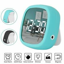 Digital Travel Mirror Alarm Clock Dual Alarm Clock with Snooze Magnet Function