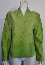 THINK TANK Green Apple Suede Button Down Shirt Jacket Size XL