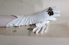 Treble Tee 1950s Nylon Ivory Vintage Evening Gloves Original Packing Size 6 1/2