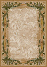 "4x6 Milliken Montego Linen Tropical Palmetto Area Rug - Approx 3'10""x5'4"""
