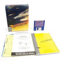 "JetFighter: The Adventure for IBM PC 3.5"" in Big Box by Velocity, 1988, CIB"