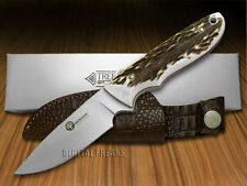 BOKER ARBOLITO Pine Creek Genuine Deer Stag Fixed Blade Knives Knife