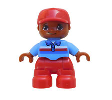 LEGO DUPLO Jeune Rouge Casquette de baseball/JAMBES NEUF enfant figurine