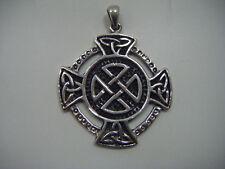Irish Celtic Knot  Cross Pendant 925 Sterling Silver