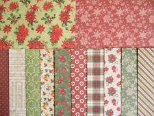 """Dovecraft floraciones de Invierno Navidad 12 Hojas 6x6"""" Scrapbook papeles de respaldo"""