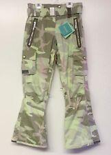 HOLDEN Women's BELTED CARGO Snow Pants - Reverse Iguana Camo - XS - NWT