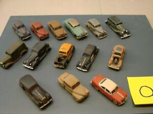 1/87 HO scale cast resin Junk Yard cars lot.