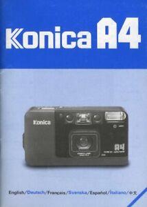 Konica A4 Instruction Manual multi-language Original