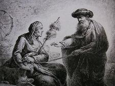 C. B. rode 'Tobias con Hanna a causa del zickleins nella controversia acquaforte' , 1769
