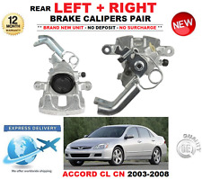 FOR HONDA ACCORD  2.0 2.2 CTDi 2.4 2003-2008 2X REAR LEFT + RIGHT BRAKE CALIPERS