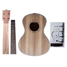 23 Zebrano Concert Ukulele DIY Hawaii Ukulele Kit Make Your Own Four Strings