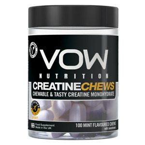 Creatine Monohydrate Chews 5g Per Serving 100 Chewable Capsules VOW Nutrition