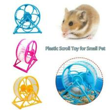 Wheel Running Exercise Plastic Scroll Silent Hamster Mouse Pets Rat Gerbil W0O7