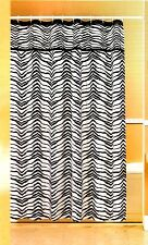 New Zebra Fabric Shower Curtain Black + White Popular Bath Animal Print