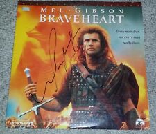 MEL GIBSON SIGNED BRAVEHEART LASER DISC LD COVER BIG AUTOGRAPH EXACT PHOTO PROOF