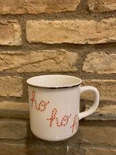 Pottery Barn Peppermint Sentiments Hohoho Mug Christmas New In Box
