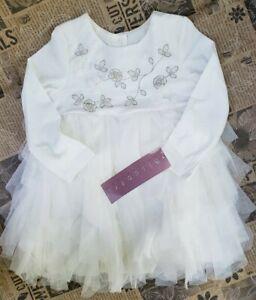 Biscotti Collezioni Tulle Ruffle Dress Long Sleeve Girls Size 2T
