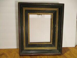 antique Victorian Eastlake Style deep well frame gold gilt satin inlets wood