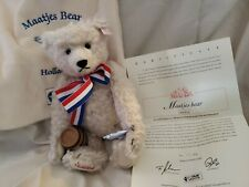 "Steiff 13""#661082 Holland MAATJES White Mohair Bear Limited Ed. 2003.MIBag. CERT"