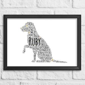 Personalised Gift Dog Pet Labrador Retriever Word Art Print Birthday Christmas