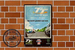 Isle Of Man T T Races 2013 Metal Sign, Motorcycle, Motorbike, Advertising, 958