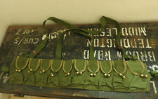 Military WW2 Japanese Bandolier Paratrooper Green Canvas Ammo Pouch Stamped(5328