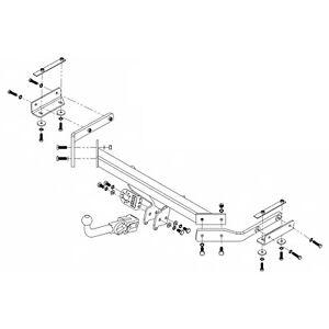 PCT Towbar for Nissan Juke 2WD 2010-2019 - Detachable Swan Neck Tow Bar