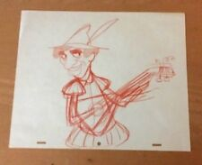 Marx Bros, 1960'S Production Cel Pencil Drawing Guitar