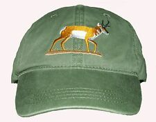 Pronghorn Antelope Embroidered Cotton Cap New Hat Animal Mammal