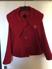 Monsoon Red Wool Coat Size 12 - Used