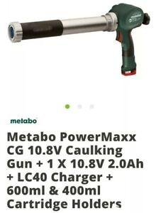 Metabo Powermaxx CG 10.8v Caulking Gun Plus 3 Batteries
