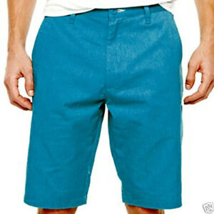 Burnside Chino Peacock Blue Shorts Boys 10, 16, 18 New Msrp $36.00