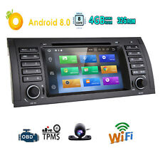 Android 8.0 8Core Car DVD Player CD Dash GPS Radio 4G DAB+ for BMW E39 X5 E53 M5