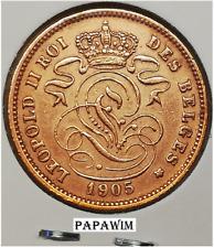 2 cent 1905 Fr. Leopold II. Morin 215. Prachtig.