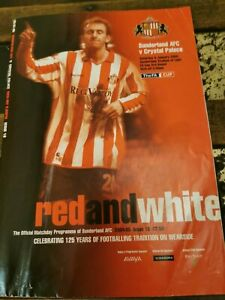 Sunderland Crystal Palace Programme FA Cup 3rd Round 8th January 2005