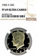 USA - 1982 S - 50 CENT - KENNEDY HALF DOLLAR - NGC PF 69 RD ULTRA CAMEO - DESCUT
