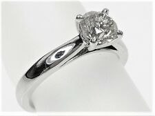 18K White gold ladies 1.08ct diamond engagement ring, with IGL Certificate
