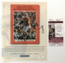Peyton Manning Signed Autographed Magazine Page JSA Vintage College Signature