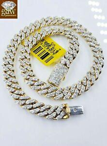 "Miami Cuban Link Diamond 10k Bracelet Link Yellow Gold  Box Clasp seven .five """