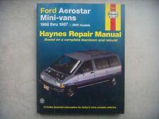 Ford Aerostar Mini-Vans Haynes Repair Manual, Service Guide 86-97. Book 36004