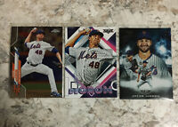 Jacob DeGrom Lot 2020 Topps Chrome Fire Base Cards Mint New York Mets