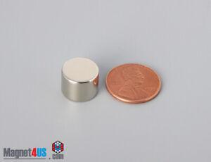 "2pcs 1/2""dia x 3/8"" N40 13mm x 9.5mm Strong Rare earth Neodymium Disc Magnets"