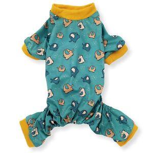 COTTON Blend Dog Pajamas Jumpsuit Soft Cute Pet Clothes Small Medium Pet XXS - L
