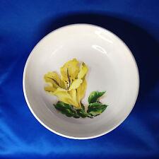 "Santa Anita Ware Flowers of Hawaii - Cup of Gold - 9"" Round Vegetable Bowl RARE"