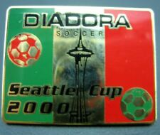 Diadora Soccer Seattle Cup 2000 Red & Green Enamel Vintage Celluloid Soccer Pin