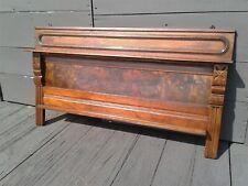 Antique Walnut Victorian Style Display Shelf with Plate Rack 1880s Era
