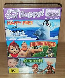 Happy Feet / Hoodwinked / Arthur And The Invisibles DVD (Box Set) - New & Sealed