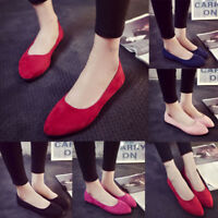 Women Ladies Flat Shoes Pumps Ballet Dolly Casual Ballerina Slip On Single Shoes