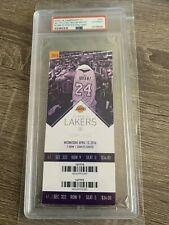 KOBE BRYANT FINAL NBA GAME TICKET vs. UTAH JAZZ 4/13/16 60 POINTS MAMBA PSA SLAB