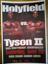 Evander Holyfield & Mike Tyson II Signed Photograph Repro/Reprint A4 Print